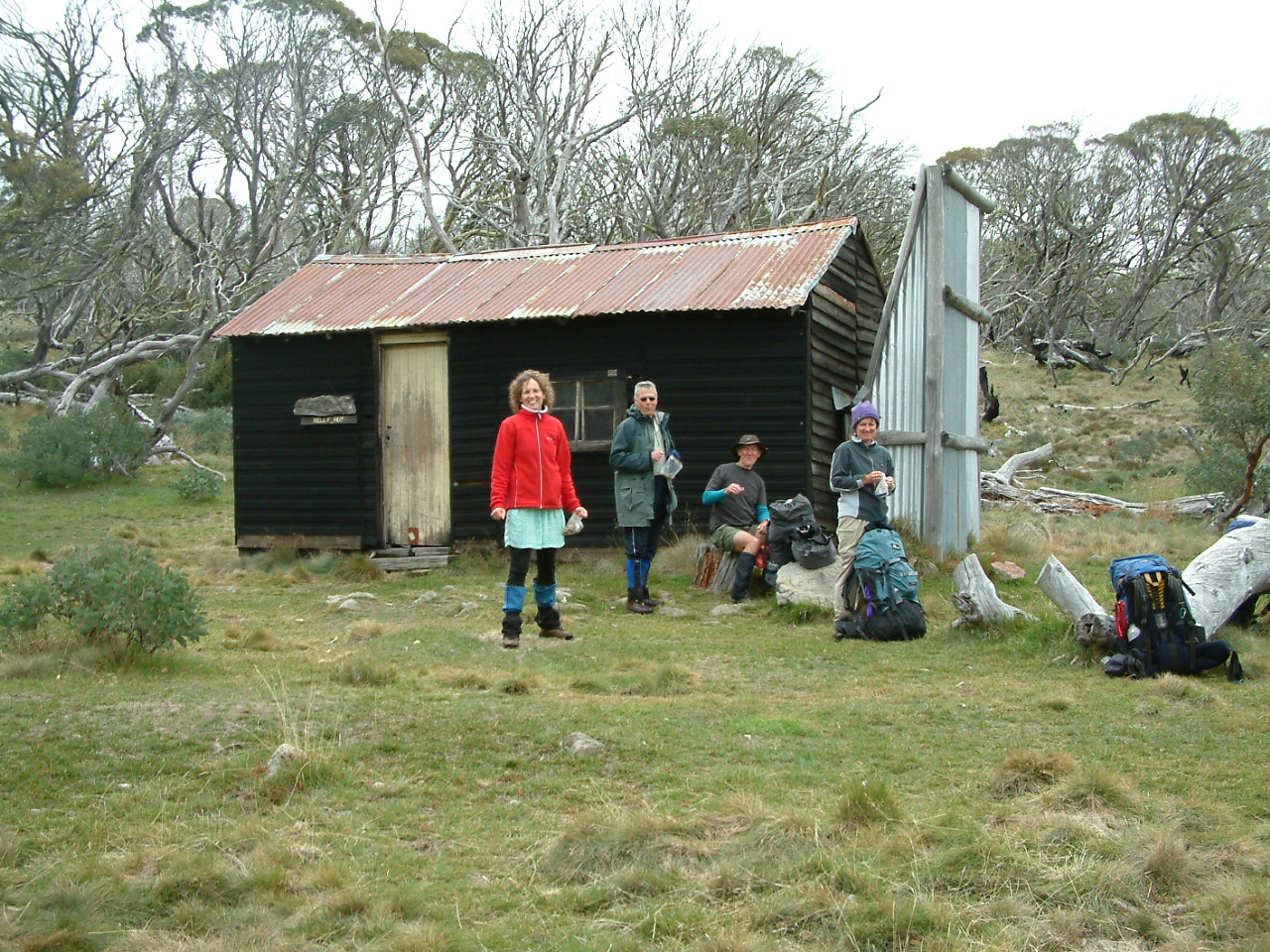Group at hut